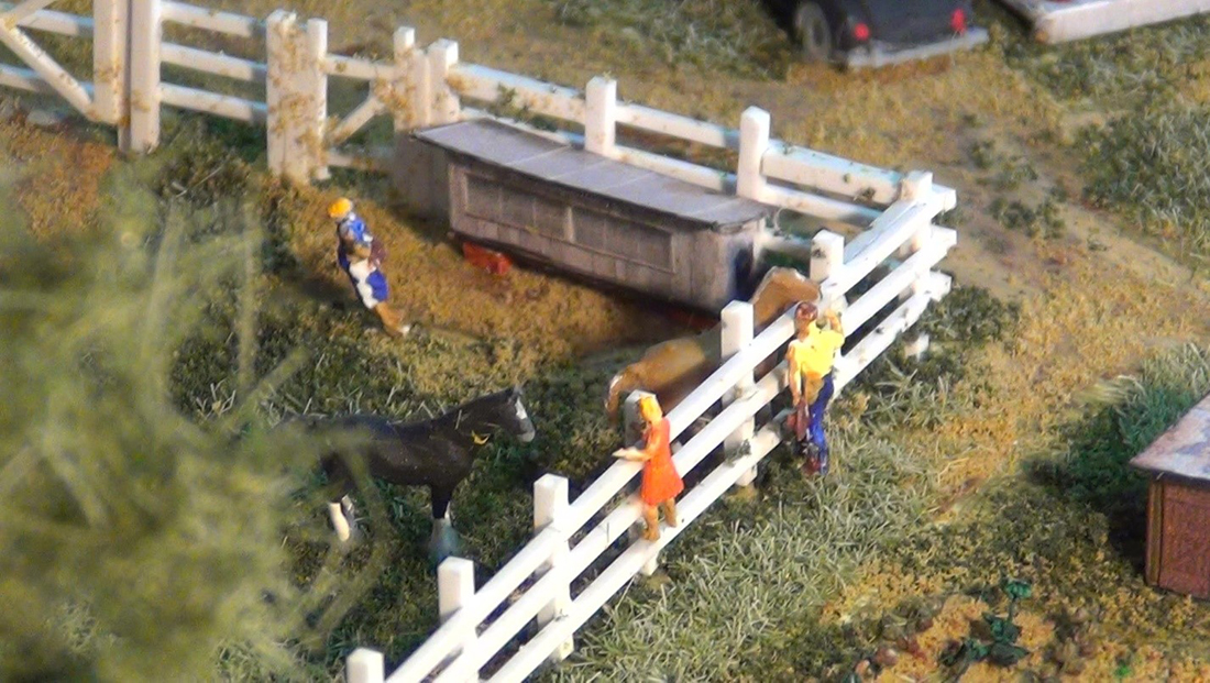 N scale farm