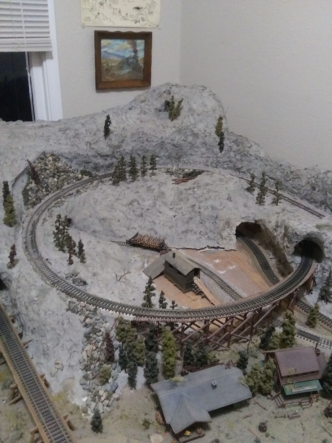 4x8 logging model railroad