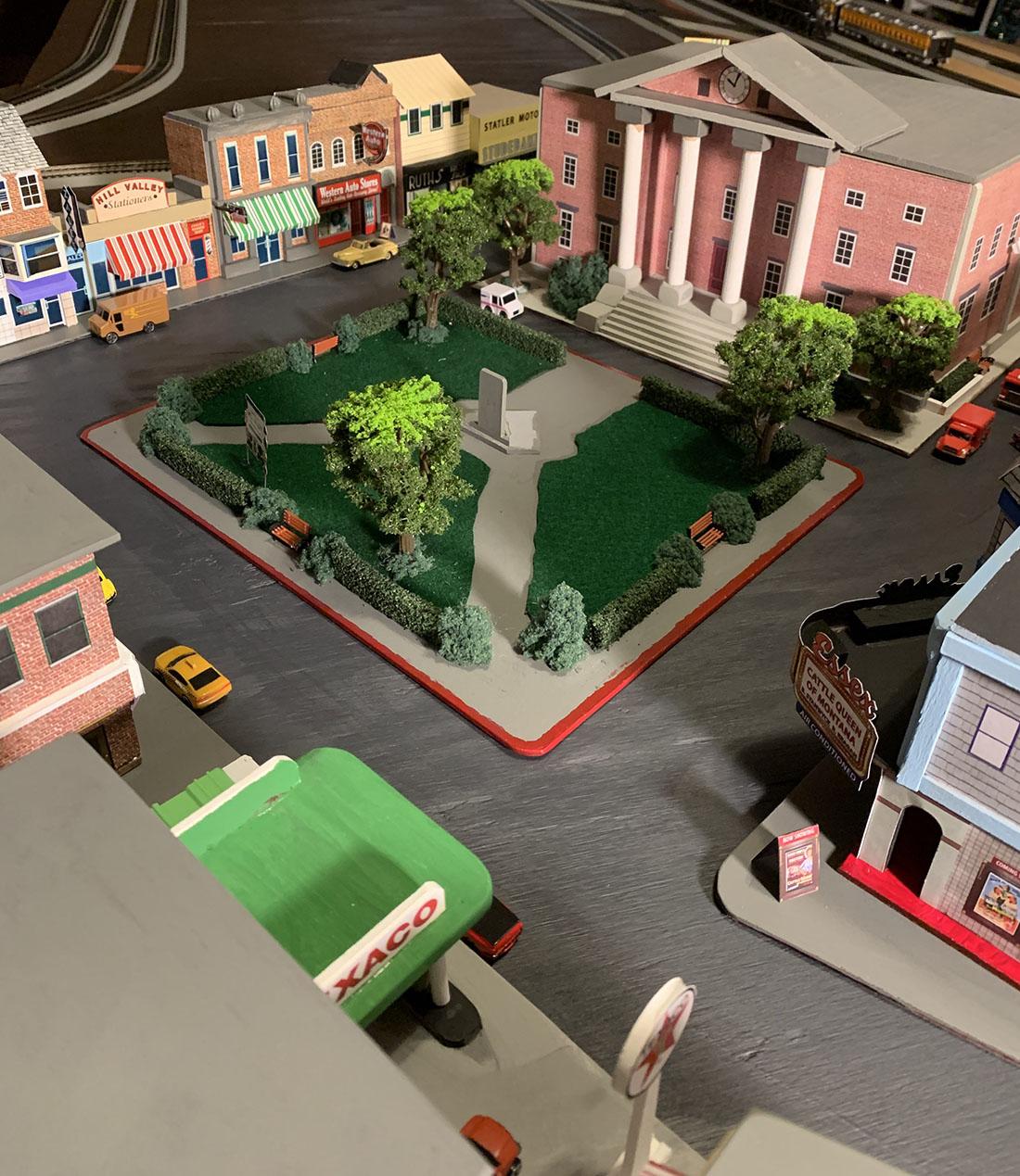 HO scale street scene