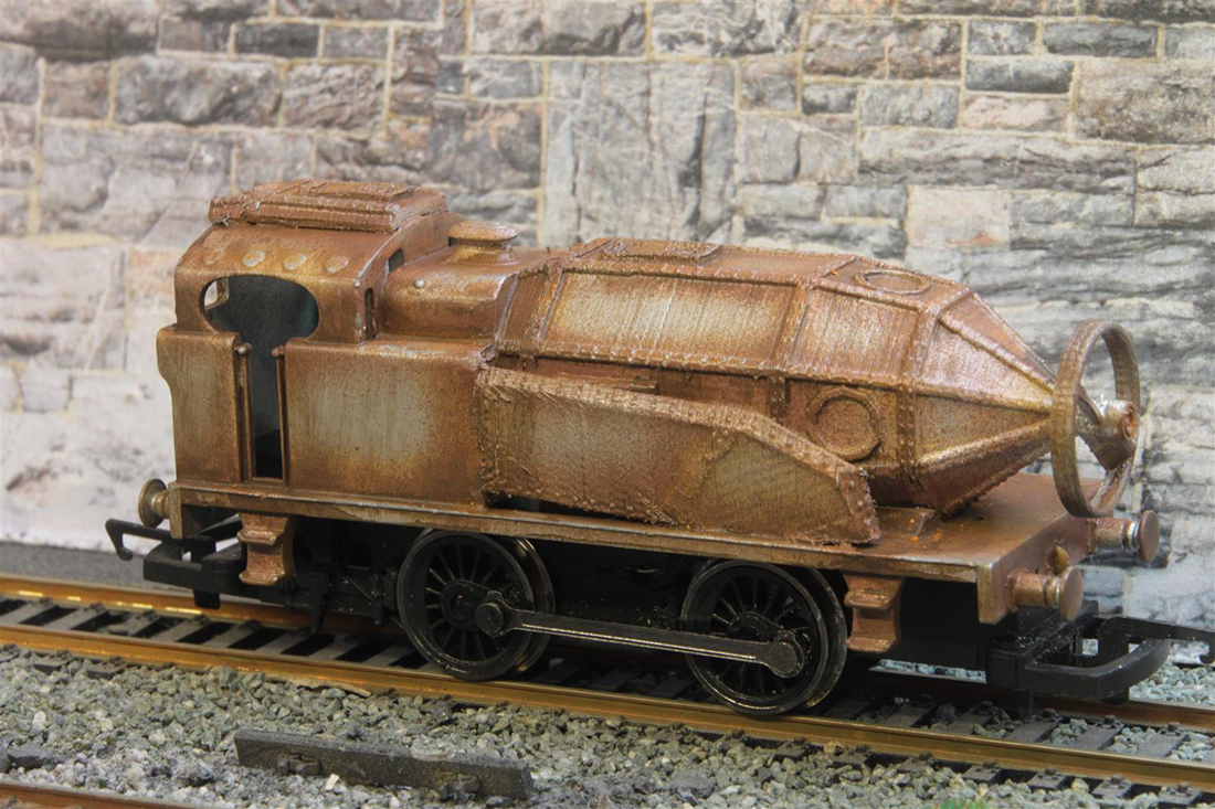 steam punk locomotive