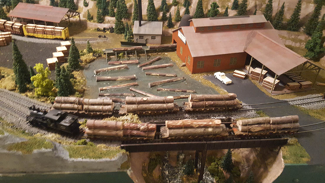 lumber yard model railroad