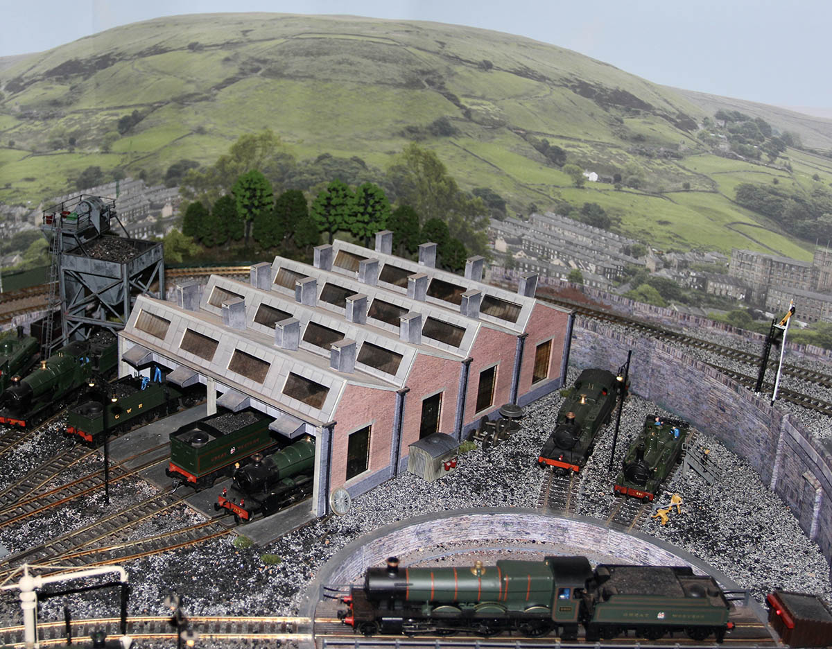 model railway engine shed